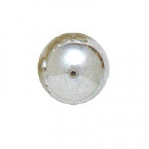 8mm Smooth Round Plastic Bead Plated Bright Silver