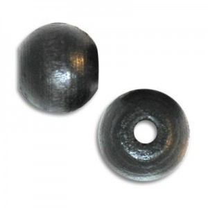 8mm Round Wood Bead Standard Hole Black