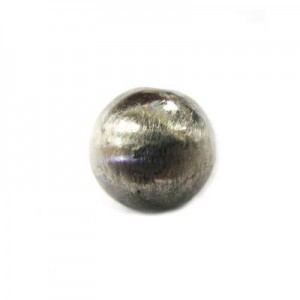 10mm Smooth Round Bead Brushed Satin Silver