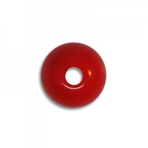 10mm Round Acrylic Bead Red Opaque Polished (108 Pcs Per Bag)