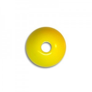 10mm Round Acrylic Bead Yellow Opaque Polished (108 Pcs Per Bag)