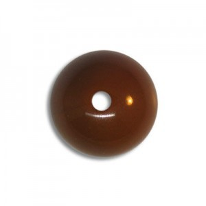 12mm Round Acrylic Bead Brown Opaque Polished (72 Pcs Per Bag)