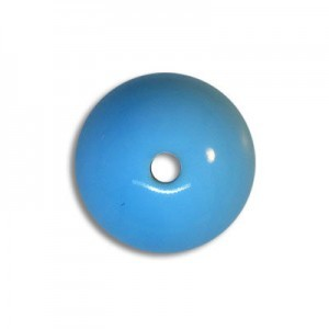 12mm Round Acrylic Bead Blue Turquoise Opaque Polished (72 Pcs Per Bag)