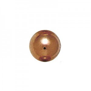 12mm Smooth Round Plastic Bead Plated Copper