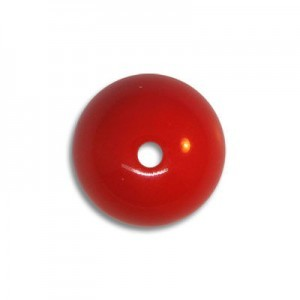 12mm Round Acrylic Bead Red Opaque Polished (72 Pcs Per Bag)