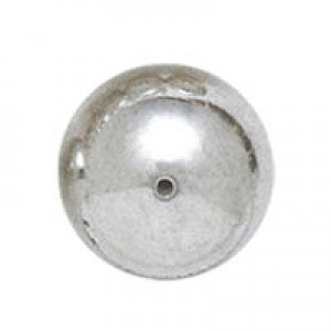 12mm Smooth Round Plastic Bead Plated Bright Silver