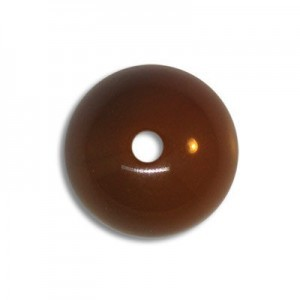 14mm Round Acrylic Bead Brown Opaque Polished (48 Pcs Per Bag)