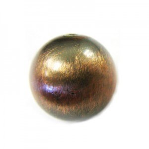 14mm Smooth Round Bead Brushed Satin Copper