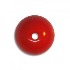 14mm Round Acrylic Bead Red Opaque Polished (48 Pcs Per Bag)
