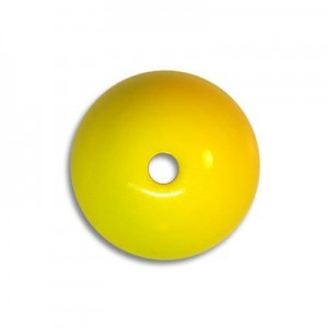 14mm Round Acrylic Bead Yellow Opaque Polished (48 Pcs Per Bag)