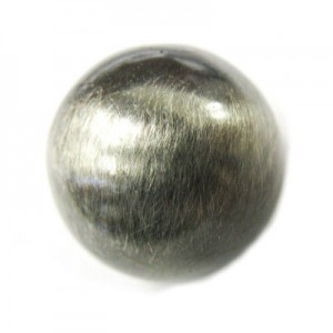 16mm Smooth Round Bead Brushed Satin Silver