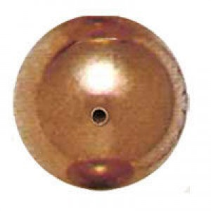 16mm Smooth Round Plastic Bead Plated Copper