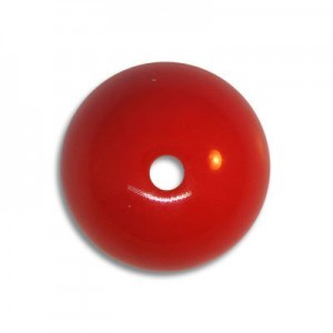 16mm Round Acrylic Bead Red Opaque Polished (24 Pcs Per Bag)