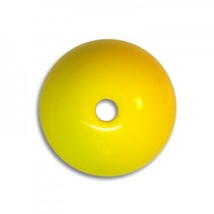 16mm Round Acrylic Bead Yellow Opaque Polished (24 Pcs Per Bag)