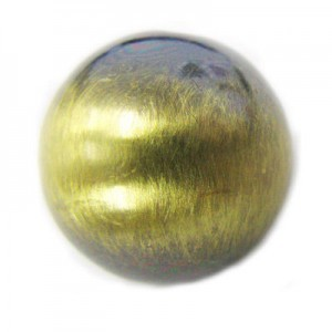 18mm Smooth Round Bead Brushed Satin Brass