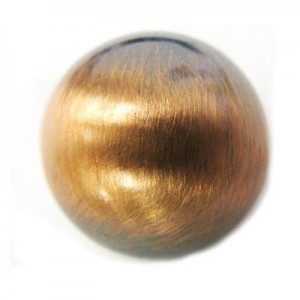 18mm Smooth Round Bead Brushed Satin Copper