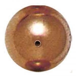 18mm Smooth Round Plastic Bead Plated Copper