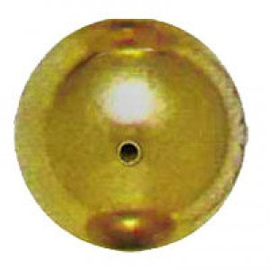 18mm Smooth Round Plastic Bead Plated Bright Gilt