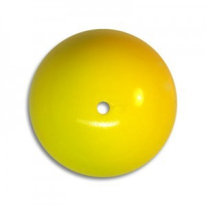 18mm Round Acrylic Bead Yellow Opaque Polished (24 Pcs Per Bag)