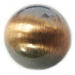 20mm Smooth Round Bead Brushed Satin Copper