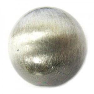 20mm Smooth Round Bead Brushed Satin Silver