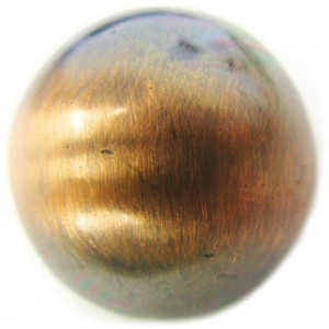 22mm Smooth Round Bead Brushed Satin Copper