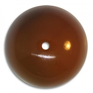 25mm Round Acrylic Bead Brown Opaque Polished (6 Pcs Per Bag)