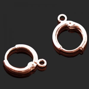12mm Round Lever Back W Ring Forever Rose Gold™ 5pairs