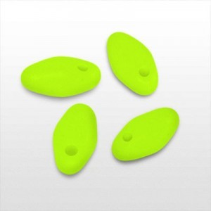 3x6.5mm Rice Droplet Bright Neon Yellow - Apx 24 Gram Vial