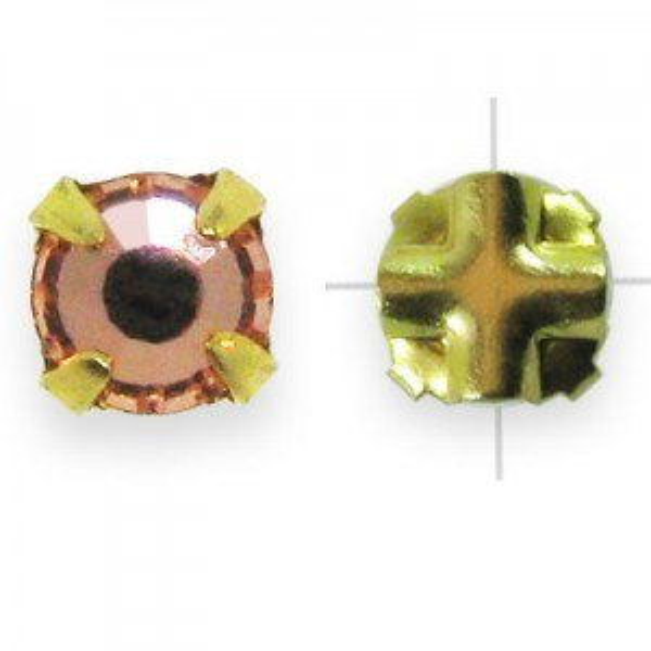 Rosemontees Preciosa® Czech MC Viva12 Ss12 Crystal Apricot on Gold Plate - 144pcs
