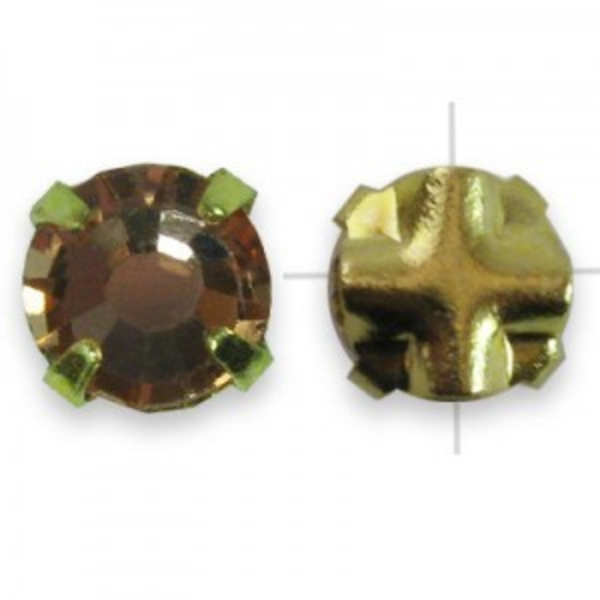 Rosemontees Preciosa® Czech MC Viva12 Ss16 Crystal Apricot on Gold Plate - 144pcs
