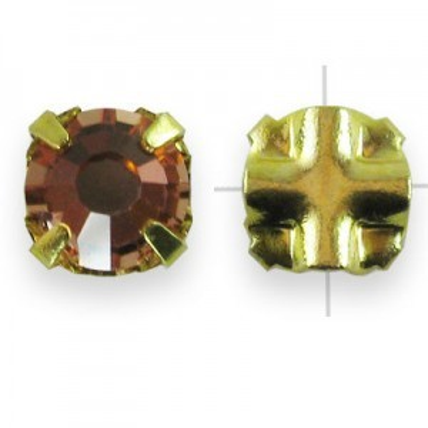 Rosemontees Preciosa® Czech MC Viva12 Ss20 Crystal Apricot on Gold Plate - 144pcs