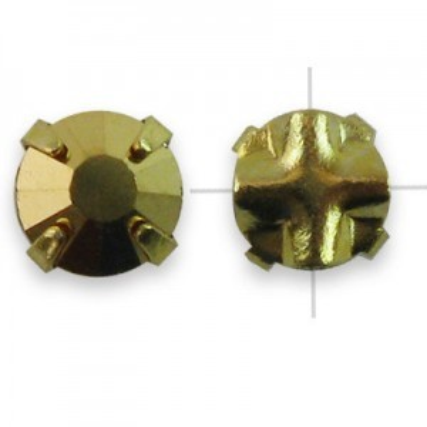 Rosemontees Preciosa® Czech MC Viva12 Ss16 Crystal Aurum on Gold Plate - 144pcs