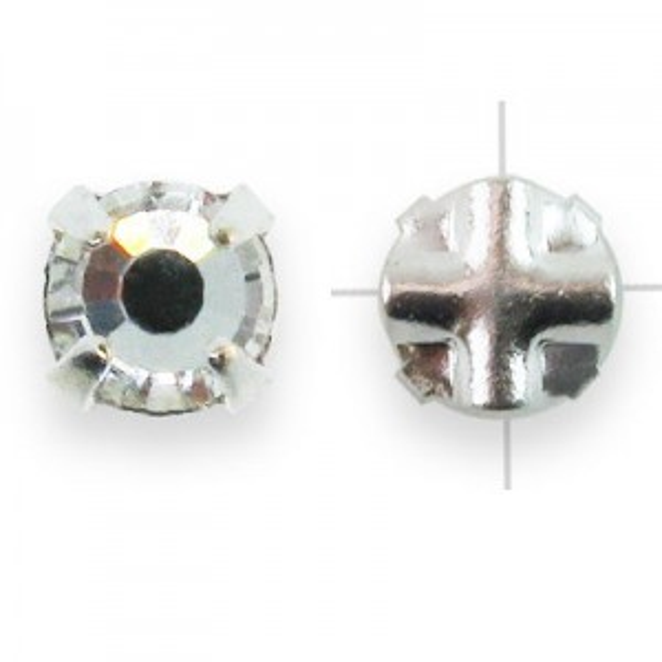 Rosemontees Preciosa® Czech MC Viva12 Ss12 Crystal on Silver Plate - 144pcs