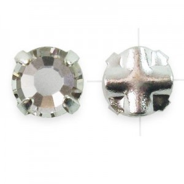 Rosemontees Preciosa® Czech MC Viva12 Ss16 Crystal on Silver Plate - 144pcs