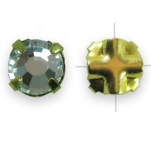 Rosemontees Preciosa® Czech MC Viva12 Ss20 Crystal on Gold Plate - 144pcs