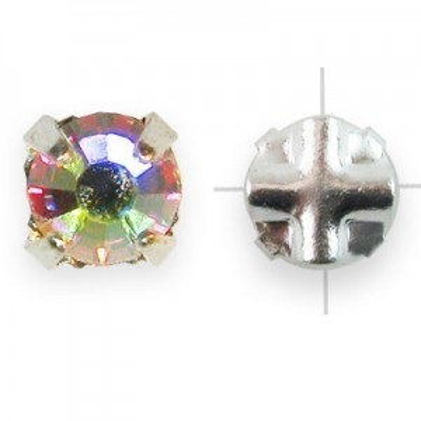 Rosemontees Preciosa® Czech MC Viva12 Ss12 Crystal AB on Silver Plate - 144pcs