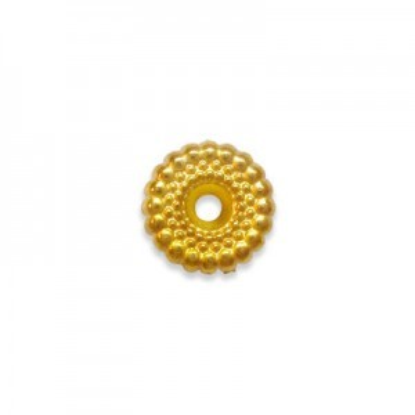 3x10mm Ripple Bead Bright Gilt