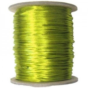2mm USA Rattail Satin Cord Avocado Light Weight #1 - 144 Yards Per Spool