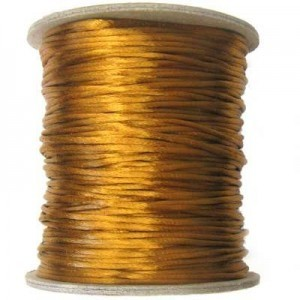 3mm USA Rattail Satin Cord Camel Heavy Weight #2 - 144 Yards Per Spool