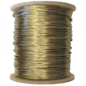 3mm USA Rattail Satin Cord Coffee Heavy Weight #2 - 144 Yards Per Spool