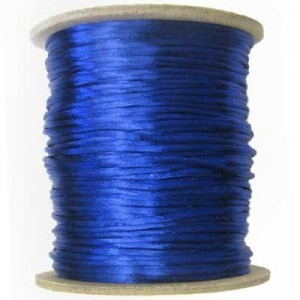 2mm USA Rattail Satin Cord Royal Blue Light Weight #1 - 144 Yards Per Spool