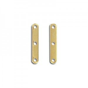 Space Bar 3 Holes Gold Plate (100pc)