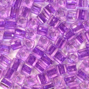5x3.5mm Sol-Gel Tanzanite Oblong Tubes Seed Beads