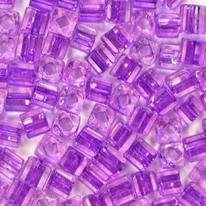 2.6x2.6mm Sol-Gel Tanzanite Loose Czech Square Seed Beads