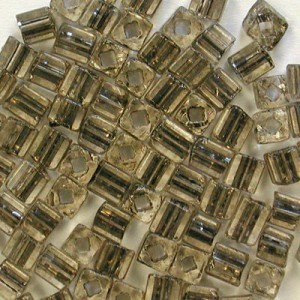 3.4x3.4mm Sol-Gel Grey Loose Czech Square Seed Beads (Apx 13400 Pcs Per Kg)