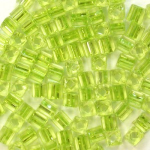 2.6x2.6mm Sol-Gel Light Olive Loose Czech Square Seed Beads