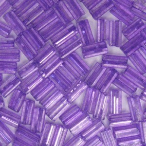 7x3.4mm Sol-Gel Tanzanite Loose Square Tubes Czech Glass Seed Beads