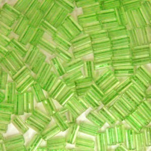 7x3.4mm Sol-Gel Light Olive Loose Square Tubes Seed Beads