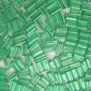 7x3.4mm Sol-Gel Teal Loose Square Tubes Czech Glass Seed Beads